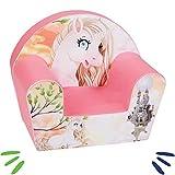DELSIT Kindersessel Babysessel Kinder Sessel Baby Sitz Kindermöbel für Mädchen PFERDE Rosa