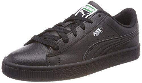Puma Unisex-Kinder Basket Classic LFS JR Sneaker, Schwarz Black 3, 37 EU - Puma Kinder Basketball-schuhe