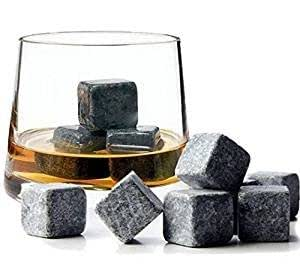 Whisky Stones, 9Pcs Set Velvet Bag Whiskey Rock Beer Stones Wine Cube Body and Base TM®