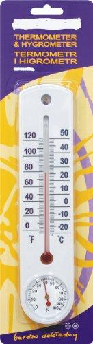 Galleria fotografica Termometro igrometro Analog -20°C fino a + 50°C termometro da parete interni ed esterni 025300