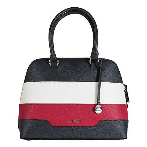 L. CREDI Damen Handtasche Cinda Marine (blau rot weiß)
