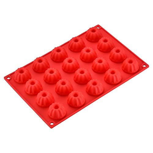 Ecoki Mini Gugelhupfform aus Silikon für 20 Gugelhupf, LFGB Zertifiziert BPA-frei Silikon Gugelhupf Kuchenform für Cupcakes, Brownies, Kuchen, Pudding - Antihaft & Leicht zu Reinigen - MEHRWEG ...