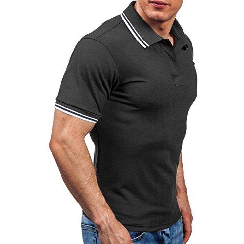 Personnalité T-Shirt, Malloom Homme Casual Slim Manches Courtes Rayé Top Blous