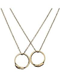 Lux Accessories Juego de collar y anillos a juego con la frase en inglés «A Promise Is Forever», diseño de nudo del infinito, para tu mejor amigo.