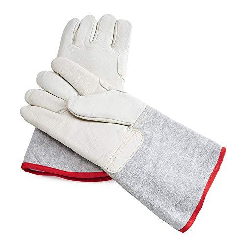 Yuewo Mid-Arm cryogéniques Gants de Protection étanche Gants de Travail  d'azote Liquide la Reine des neiges Gants Cold Storage Cryo Gants de Travail