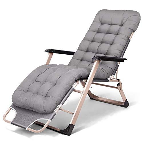 Donyit Klapp Schwerelosigkeit Stuhl Im Freien Picknick Camping Sonnenbad Strand Stuhl mit Utility Fach Liege Lounge Stühle Grau - Klapp Strand Camping Stuhl