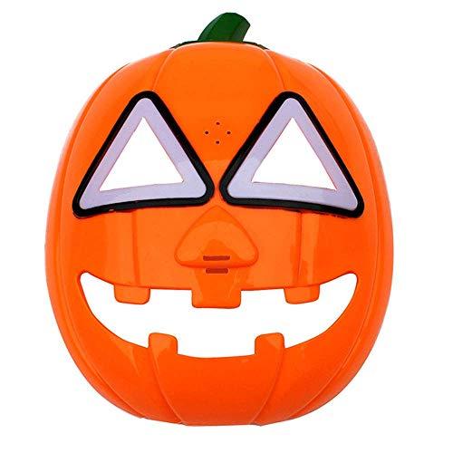 YaPin Halloween Weihnachten Maske Maskerade Party Maske Cosplay Kinder Maske Mit Lichter Glühende Kürbis Maske Kinder Geschenk (Kürbis-maske Kinder Für)