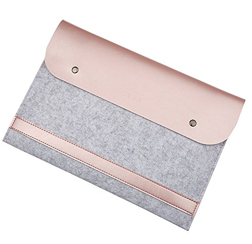 "Laptoptasche Notebooktasche Laptophülle Schutzhülle Notebook Computer Fall Tablette Aktenkoffer für 11.6-15.4 Zoll Ultrabook für 2016 macbook pro 13.3"" Rose Gold"