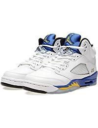 Nike Air Jordan 5 Retro Bg, Chaussures de Sport Garçon, Blanc, For Men