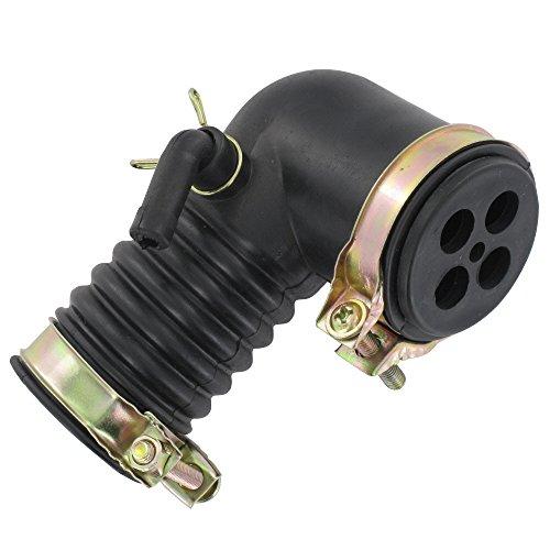 Preisvergleich Produktbild Xfight-Parts YY50QT027004-A-4T50 Ansaugschlauch vorne mit Gitter kurz Winkel Luftfilter Typ7 Länge = 100mm 139QMA 139QMB GY6 4Takt 50ccm YY50QT027004-A-4T50
