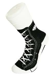 Sneaker Socken - Silly Sock - schwarz