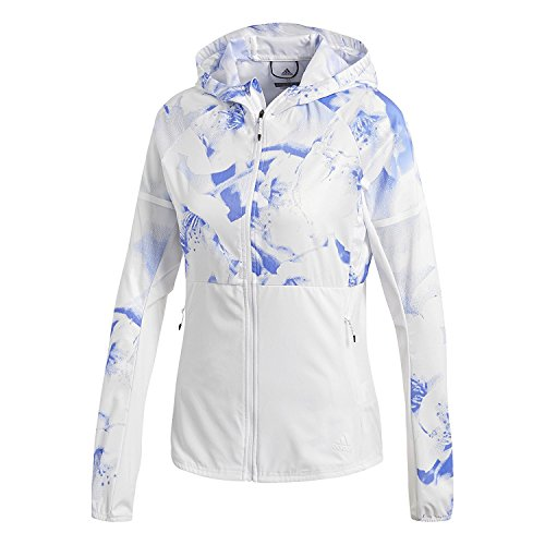 adidas Damen Ultra Graphic Jacke, Crywht/Hirblu, M