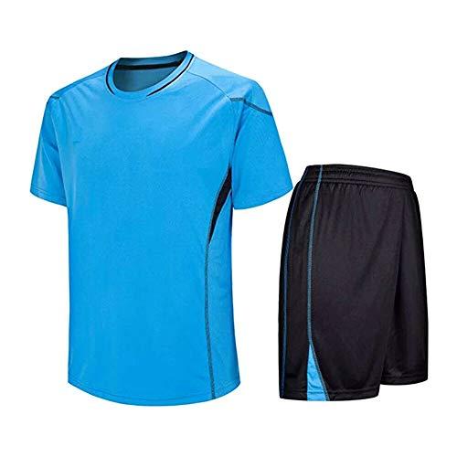Meijunter Kind Erwachsene Fußball T-Shirt & Shorts Set - Team Training Wettbewerb Sportbekleidung Im Freien Kostüm Soccer Jerseys Uniforms (Kinder Kostüm Wettbewerb)