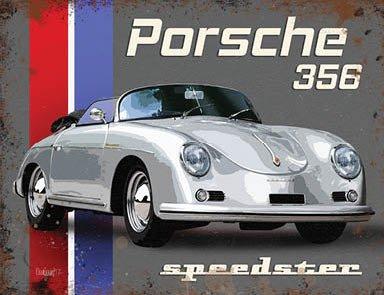 Klein (150x 200mm) Metall Schild-Veranda 356Speedster -