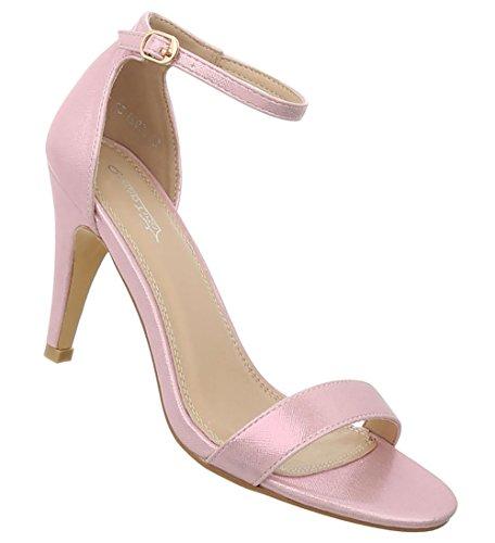 Damen Schuhe Sandaletten High Heels Pumps Stilettoabsatz Designer Mules Trend Pumps Schicke Abendschuhe Rosa 40