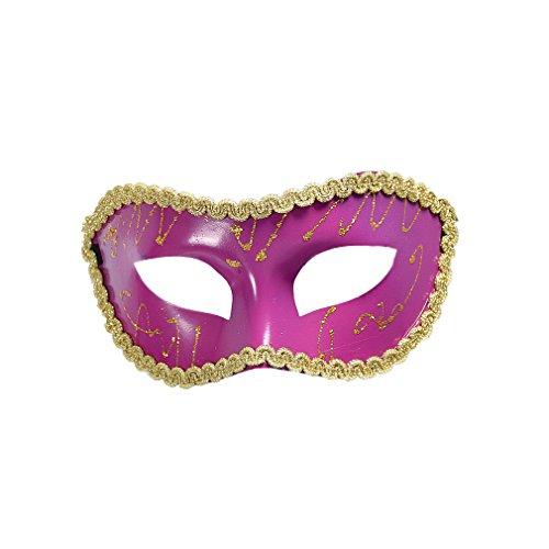 YAZILIND Halbes Gesicht Phnom Penh Königin gemalt Maske für Kostüm Maskerade Halloween Party - Kunststoff-gesicht Halloween-maske