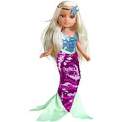 Nancy Un Día de Sirena - Muñeca sumergible en agua, para niños y niñas a partir de 3 años (Famosa 700014762)