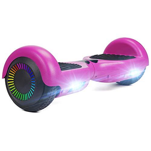"""HOVER-ONE Selbstausgleichender Elektroroller mit 2 Rädern, 6,5"""" selbstausgleichendes Hoverboard für Kinder und Erwachsene, Swegway-Board mit kostenloser Tragetasche, LED-Licht(Lila)"""