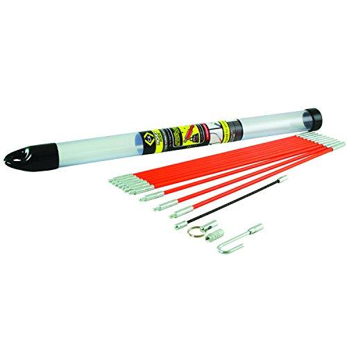 C.K T5411 Kabel-Einziehstangensatz Mighty-Rod 3,30 Meter, Mehrfarbig
