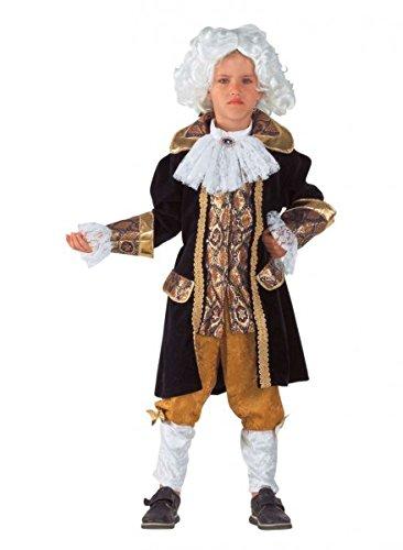 Premium Amadeus Mozart-Kostüm für Jungen mit Halsbinde und Stulpen | Hochwertiges Karnevals-Kostüm / Faschings-Kostüm / Kinderkostüm | Perfekte Barock Verkleidung für Karneval, Fasching, Fastnacht (Größe: 128) (Kreative Halloween Kostüme 2017 Für Jungen)