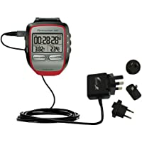International AC Home Wall Charger suitable for the Garmin Forerunner 305 - 10W Charge supports wall outlets and voltages worldwide - Uses Gomadic Brand TipExchange