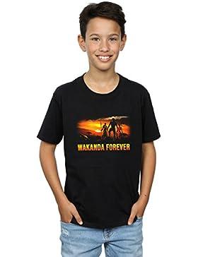 Marvel Niños Black Panther Wakanda Forever Camiseta