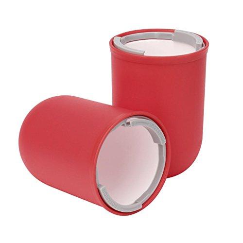Travel Business Zahnbürste Speicher Tassen,Jaminy 4 In 1 Kreative Reise Waschen Tassen Kapselform Portable Mundwasser Toothbrh Zahn 2 Große Becher Und 2 Kleine Becher (Rot) 5 Tasse-kaffeemaschine Rot