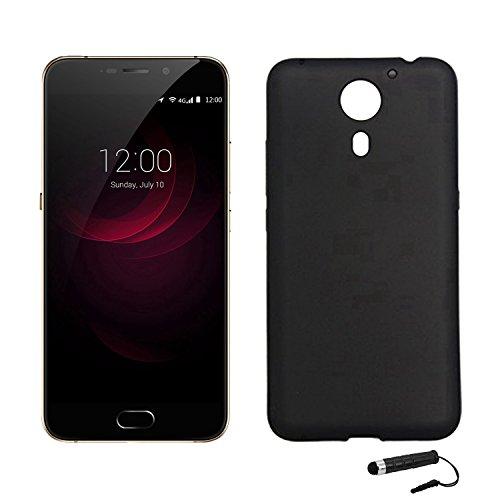Tasche für UMIDIGI plus / UMIDIGI Plus E Hülle, Ycloud Handy Backcover Kunststoff-Soft Shell Case Handyhülle mit stoßfeste Schutzhülle Smartphone Schwarz