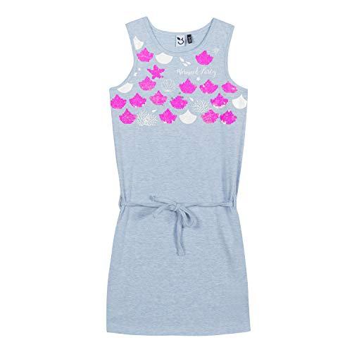 3 pommes Mädchen 3n31114 402 Dress Kleid, Blau (Ocean, 5-6 Jahre (Herstellergröße: 5A/6A)