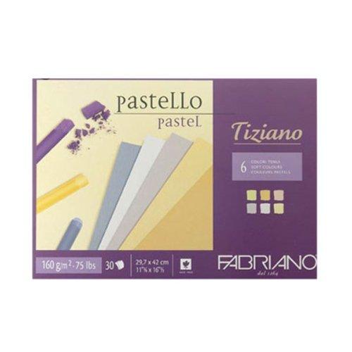 Fabriano 46021297 Pastellpapier Blöcke, Baumwolle, mehrfarbig, 21 x 29,7 x 0,5 cm