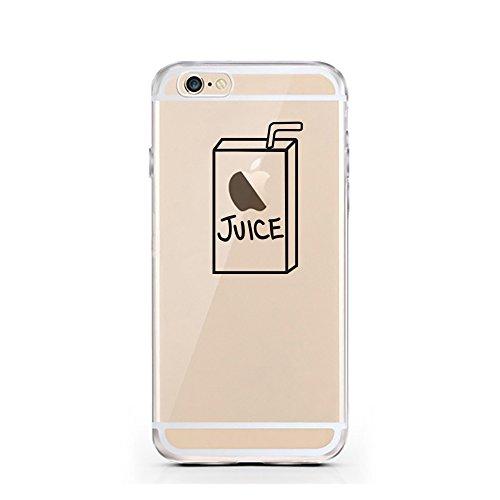 iPhone 5 5S SE Hülle von licaso® für das Apple iPhone 5SE aus TPU Silikon Apfel Apple-Juice Saft-Tüte Apfel-Saft Muster ultra-dünn schützt Dein iPhone 6 & ist stylisch Schutzhülle Bumper in einem (iPh Apple Juice