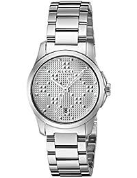 Gucci Unisex Reloj de pulsera G–Timeless analógico de cuarzo Acero inoxidable ya126551