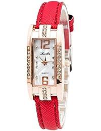 Relojes Mujer,Xinan Reloj de Pulsera Cuarzo de las Mujeres Moda (Rojo)