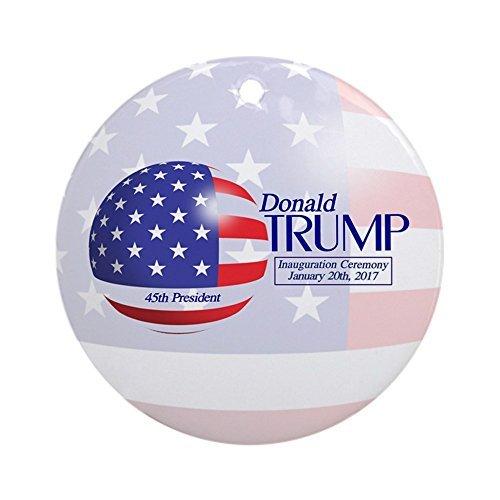 (CafePress–Donald Trump Amtseinführung Januar 20. 2017rund–Rund Urlaub Weihnachten Ornament)