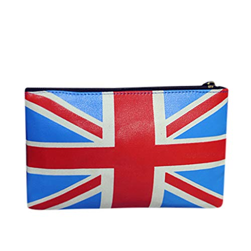 SoonerQuicker Messenger Bag Damen Mode Dame Classic Vintage Flag Clutch Bag Wild Handgelenk Umschlag Tasche Beutel B One Size
