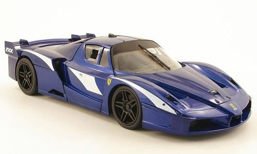 Ferrari FXX Evoluzione, met.-blau, Modellauto, Fertigmodell, Mattel 1:18