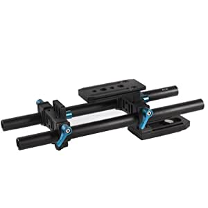 Neewer DP500 15mm DSLR Rail Rod Support System with Quick Release Plate