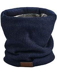 NovForth Bufanda Mujer Hombre Invierno Bufanda Tubular Unisex con Doble Cara de Punto y Forro Felpado Calentador de Cuello Engrosado y Elástico para Ciclismo Cold Weather