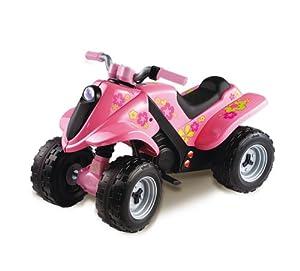 Smoby 33544 - Quad Flower Power (plástico, Motor eléctrico, 82,4 x 45,3 x 54,7 cm), Color Rosa