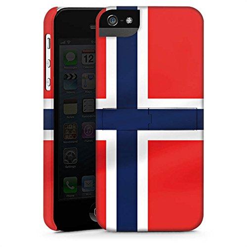 Apple iPhone SE Silikon Hülle Case Schutzhülle Norwegen Norway Flagge Premium Case StandUp