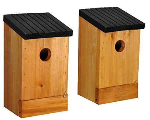 Selections Gardman Nistkasten für Vögel, aus Holz, 2Stück