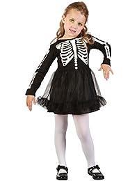 Toddler Girls Black Skeleton Tutu Halloween Fancy Dress Costume Outfit 2-3 Years