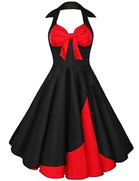Cabestro Vestido De Algodón Retro Estilo De Hepburn