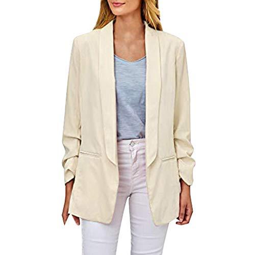 Toasye Damen Langarm knopflose Büro lässig kleine Anzug Strickjacke Jacken Taschen Keine Tasten Strickjacken Büro Freizeit kleine Anzüge Mantel -