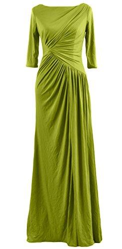 MACloth - Robe - Trapèze - Manches Courtes - Femme Vert - Vert olive