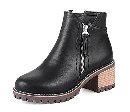 Talon Bottes Dorteil Pointu Fermeture Ageemi Shoes À Noir Femme Zip qxFwx7vIH
