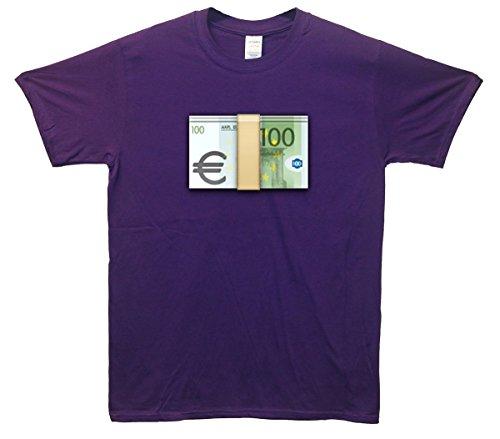 Euro's Emoji T-Shirt Lila