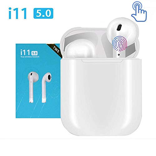 PIETM i11 TWS 5.0 Wireless Bluetooth Earphones & 2 Way Pairing with Handsfree Calling, Noise Cancellation for iOS & Android Device Image 2