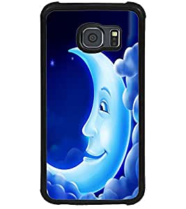 ColourCraft Funny Moon Design Back Case Cover for SAMSUNG GALAXY S6