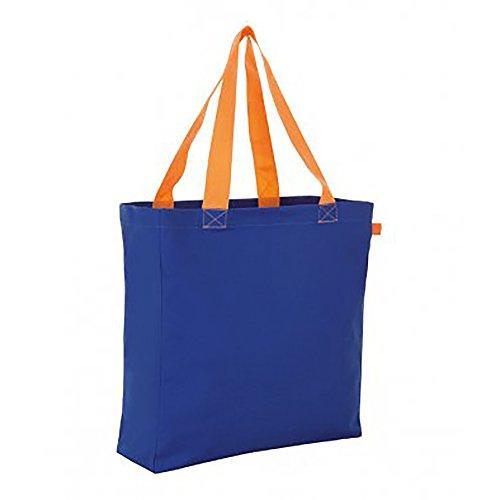 SOLS Lennox Kontrast Shopper Royal Blau/Orange